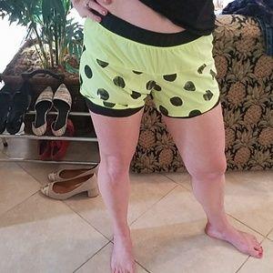 Nike Shorts - Nike Dri Fit Yellow Polka Dot Shorts